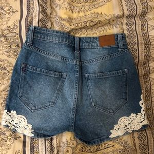 Urban Outfitters Shorts - BDG Urban Outfitters Denim Shorts with Lace Hi-Ri